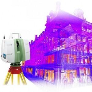 Projekteringsinmätning och relationsunderlag från laserskanning av en byggnad