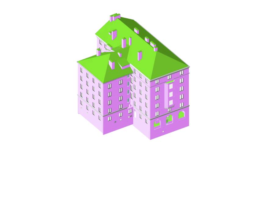 3d modell från laserskanning revitmodell översikt