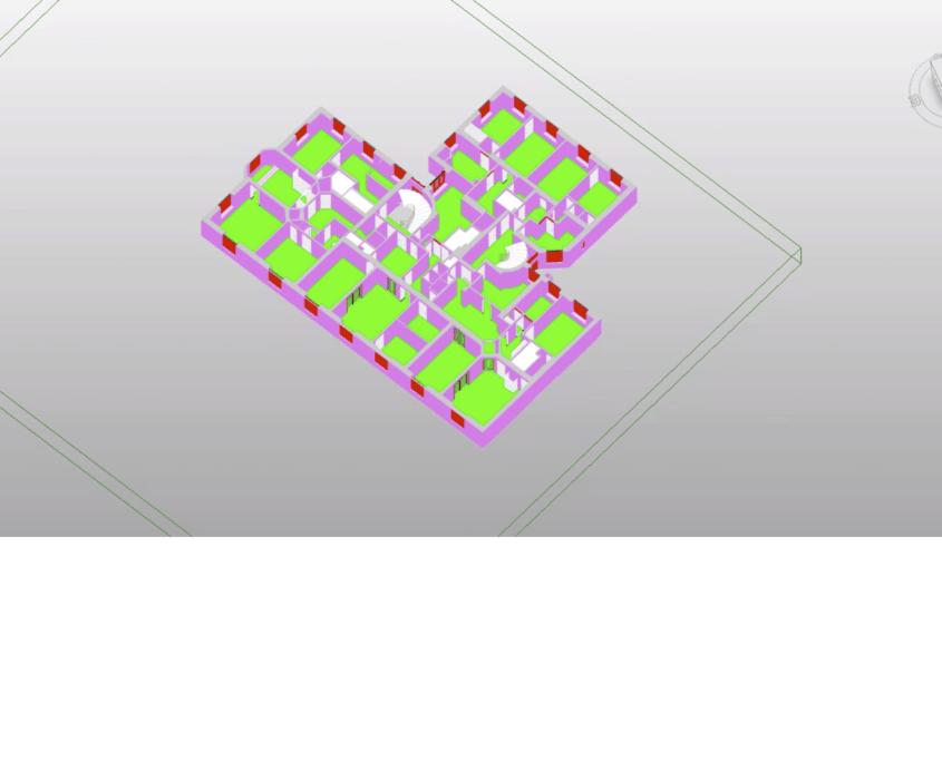 3d modell från laserskanning revitmodell plan 4