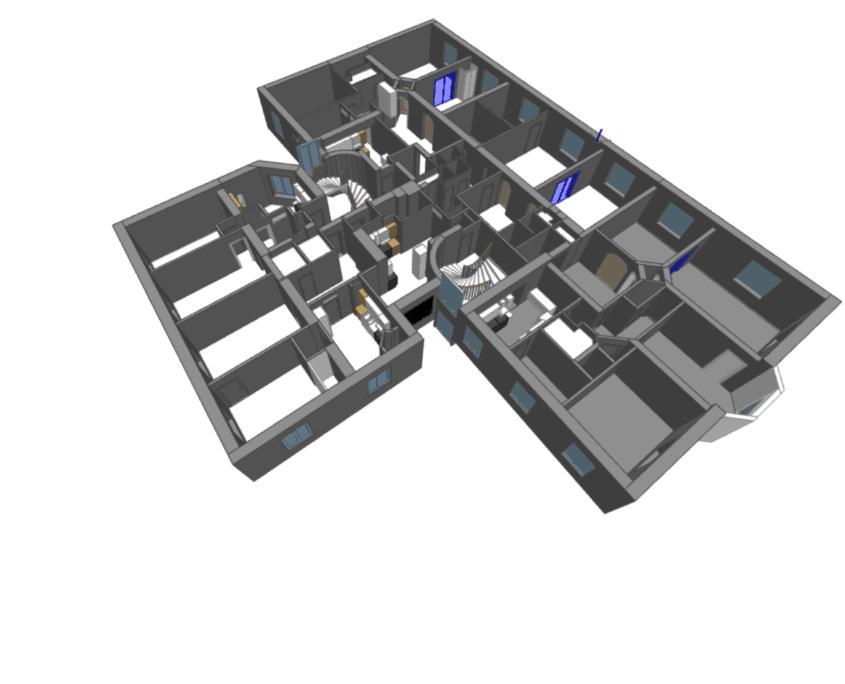 3d modell från laserskanning plan 4