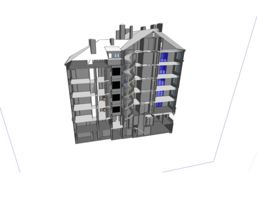 3d modell från laserskanning skärning