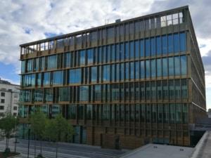 KO Mätteknik är med och utför utsättning och inmätning på Täby nya kommunhus