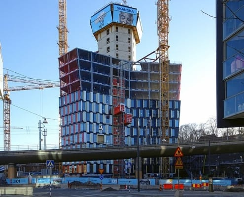 stockholm New STHLM 01 under produktion av Skanska
