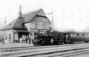 åkersberga station förra sekelskiftet