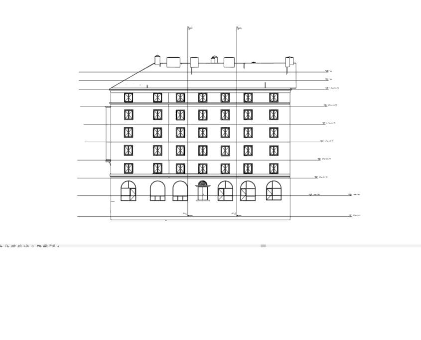 3d modell från laserskanning 2d fasadritning