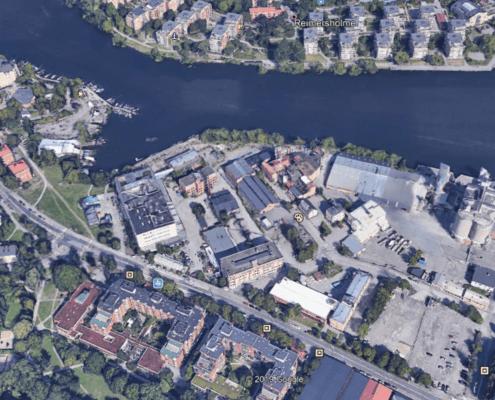 Kv Lövholmen översikt från google earth